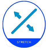 stretch icon - 2 colors